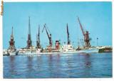 Carte postala(ilustrata)-CONSTANTA-vedere din port, Circulata