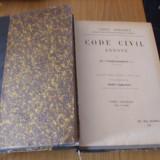 CODE CIVIL ANNOTE   par  Ed. Fuzier- Herman --  doua volume