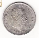 ITALIA 5 LIRE 1873 - REPLICA SUFLATA IN ARGINT