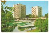 Carte postala-MAMAIA-Hotelurile Patria si National, Circulata, Printata, Europa