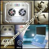 NOTEBOOK COOL PAD ARGINTIU MASUTA RACIRE LAPTOP 2 VENTILATOARE LED ON/OFF