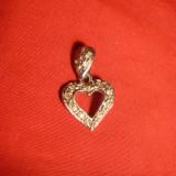 Medalion Inimioara - argint cu cristale, 1, 1g - Pandantiv argint