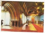 Carte postala-IASI-Palatul Culturi-Sala Voievozilor, Circulata, Printata, Europa