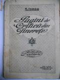 RARA NICOLAE IORGA-PAGINI DE CRITICA DIN TINERETE,EDITURA RAMURI,1920,CRAIOVA