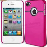 HUSA, TOC TELEFON iPHONE 4 4S +FOLIE DE PROTECTIE ECRAN - Husa Telefon Apple, Roz