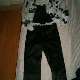 Costum saten sacou pantalon si top mas 38 superbeee - Costum dama