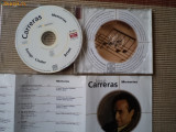 Jose Carreras memories songs arien lieder cd disc muzica clasica opera ed vest