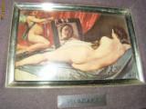 TABLOU VECHI   ,Decorativ,  ,NUD,Venus si Cupidon - Diego Velazquez