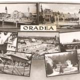 CPI (B602) ORADEA, MOZAIC, BAILE 1 MAI, SALONTA, EDITURA CPCS, CIRCULATA, 1959, STAMPILE, TIMBRE - Carte Postala Crisana dupa 1918, Fotografie