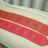 Dantele centru masa din ata rosie de bumbac - tesatura textila
