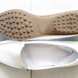 Pantofi din piele - Pantof dama, Alb, Marime: 40