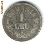 1 LEU 1873 ARGINT PIESA DEOSEBITA CU PATINA STARE EXCELENTA
