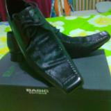 PANTOFI - Pantof barbat, Marime: 43, Piele naturala, Negru