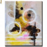 Tablou modern abstract 60x50cm in ulei pe panza - LUMI PARALELE (1) - Tablou autor neidentificat
