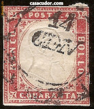 1855-1861 ITALIA SARDINIA VICTOR EMANUEL II 40c. Yt 13= 20 eur. SG 55 = 30LS