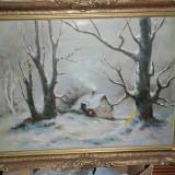 TABLOU-pictura IARNA GREA - Pictor roman