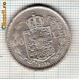 52 Moneda  100 LEI 1936 -putin bombata intr-o parte, probabil din batere -starea care se vede -ceva mai buna decat scanarea