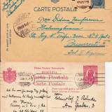 Ansamblu 2 DE LA PIATRA OLT LA BUCURESTI, SI DIN GERMANIA LA BUCURESTI 1915-OCPP 97 - Plic Papetarie