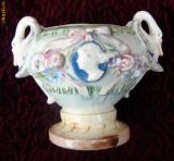 Vas din ceramica emailata italiana (posibil maiolica) DE COLECTIE!!!