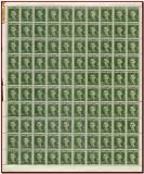 Romania 1940 - Ajutorul Legionar, C.Z. Codreanu, coala 100 timbre x 5 Lei verde, Istorie, Nestampilat