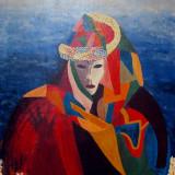 Tablou SAMURAI - Cristina Hornea., Portrete, Ulei, Altul