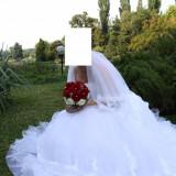 Rochie de mireasa cu voal - Rochie de mireasa printesa