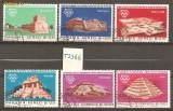 TSS66 PANAMA, ARTA, ( OLIMPIADA MEXIC 1968 ), 1967, SERIE COMPLETA, 6 VALORI, STAMPILATA, America Centrala si de Sud