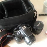 Canon 1100d eos - ca nou! cumparat acum 2 luni - cu 2 obiective - 18-55 mm VR si 50mm f 1.8 si GEANTA - Aparat Foto Canon EOS 1100D, Kit (cu obiectiv)