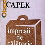 Karel Capek-Impresii de calatorie (din perioada interbelica)-din Italia;din Spania (cu ilustratiile autorului) -ed Junimea (B1229) - Carte de calatorie