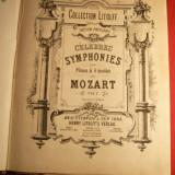 Mozart -Celebrele Simfonii pt. Pian la 4 maini -vol si 2 -Litolff - Carte Arta muzicala