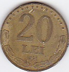 Moneda 20 lei Romania 1991