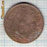 109 Moneda  5 BANI 1867 HEATON -starea care se vede -ceva mai buna decat scanarea