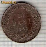 105 Moneda  10 BANI 1867 WATT & Co -starea care se vede -ceva mai buna decat scanarea