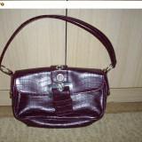 geanta noua 2 buzunare culoare visiniu