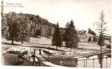 R-10142 Romania, RPR, Poiana Stalin, Podul si Lacul Poiana, circulata