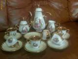 Servici ceai/cafea din portelan aurit