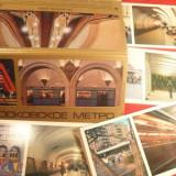Carnet cu 18 Ilustrate - Metroul din Moscova - 1980