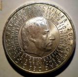 5.251 GERMANIA SCHILLER 10 EURO 2005 G AUNC ARGINT .925/18g, Europa