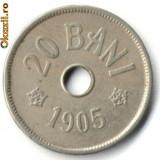 20 BANI 1905, STARE FOARTE BUNA - Moneda Romania