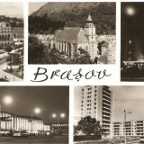 CPI (B761) BRASOV, EDITURA MERIDIANE, CPCS, CIRCULATA, 1970, STAMPILE, TIMBRU FILATELIC - Carte Postala Transilvania dupa 1918, Fotografie