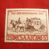 Serie- Ziua Marcii Post. 1950 Saar Ocup.Fr., 1 val.sarn.