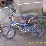 BMX Jumper DHS - Bicicleta BMX, Curbat(Risebar), Aliaje de aluminiu, Fara amortizor