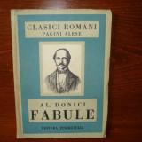 FABULE / AL.DONICI - ANUL 1950 - Carte poezie