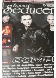 revista goth metal EBM indus Sonic Seducer, Germania, sept 2008 cu CD