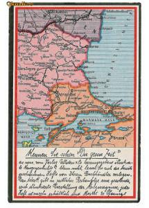 571 - HARTA - Constanta, Medgidia, Bucuresti, Alexandria, Calarasi. Oltenita - old postcard - unused