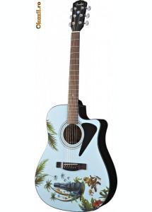 Chitara FENDER Moai Madness Tiki Acoustic - editie limitata