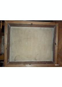 Isus rugandu-Se, pictura religioasa veche in ulei pe panza