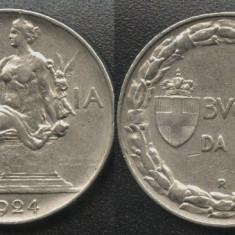 Italia 1 Lira 1924 RARA