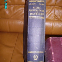 BAZELE FARMACOLOGICE ALE TERAPEUTICII
