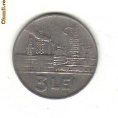 Bnk mnd romania 3 lei 1966 - Moneda Romania